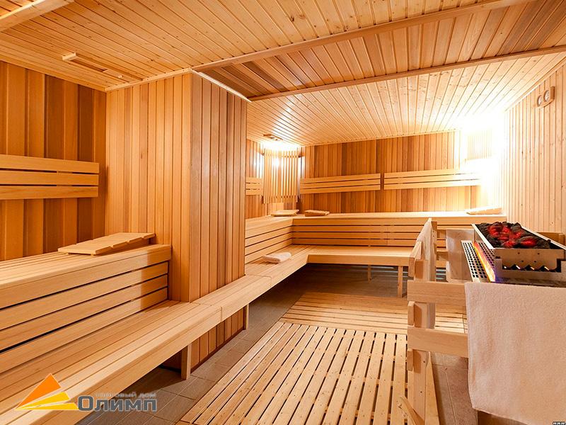 Вагонка, полок, двери для бани в торговом доме «Олимп»